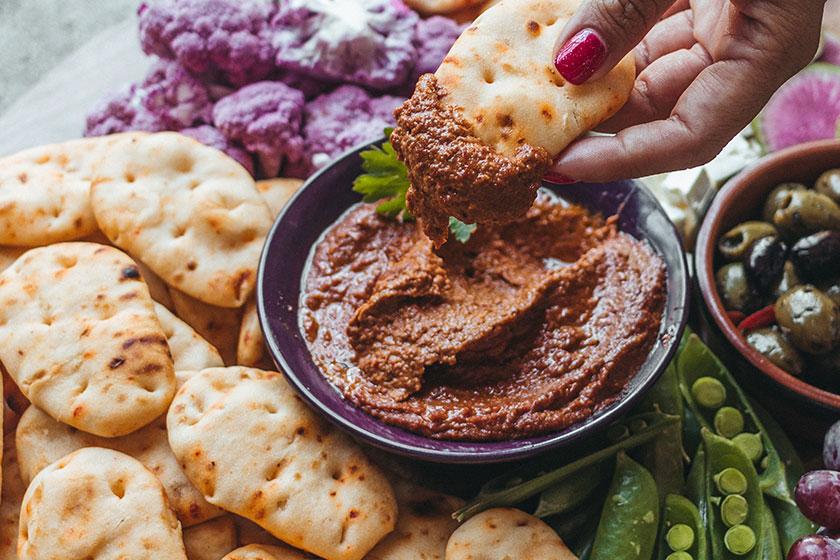 Assorted finger foods