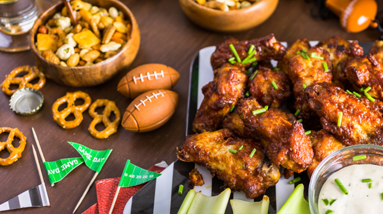 Football snack spread