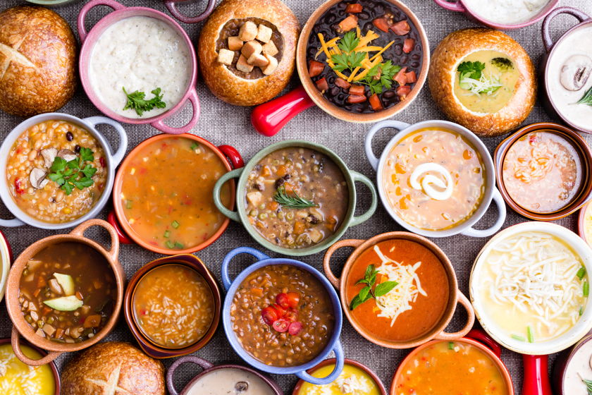 Variety of soups