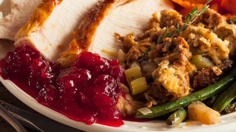 Turkey, Cranberries, and Potatoes